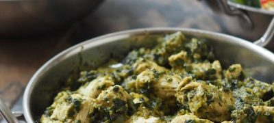 Healthy Chicken Saag with Rice Recipe